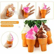 Squeeze Squishy Ice Cream Slow Rising Stretch Phone Strap Relieve Vent Toy Gift