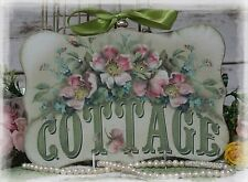 "~  ""Cottage..."" Vintage ~ Shabby Chic ~ Country Cottage style~Wall Decor Sign ~"