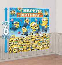 Despicable Me Minion Scene Setters Happy Birthday Wall Poster Party Supplies 5pc