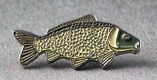 Metal Enamel Pin Badge Brooch Fish Carp Common Carp Fishing Angler Angling