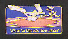 Star Trek Episode #2  Cloisonne Pin-Where No Man Has Gone Before... FREE S&H