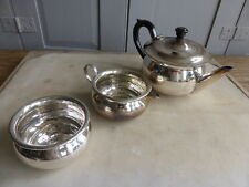 Antique silver plated teaset  - teapot, milk, jug + sugar bowl