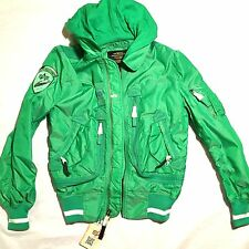 NEW ALPHA INDUSTRIES LIQUID RACER NEON GREEN FLIGHT BOMBER JACKET XXS 2XS