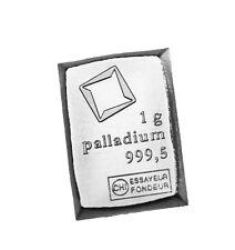 Palladium 1 gram Valcambi Suisse bar