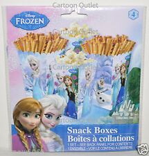 DISNEY FROZEN SNACK BOXES ANNA ELSA 4PC PARTY FAVORS FOR POPCORN CANDY BIRTHDAY