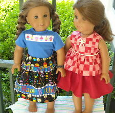 """Lot 18"""" Doll Clothes for  American Girl, Journey Girls   FUN TOPS, SKIRTS  5 PC"""