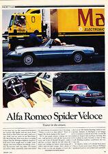 1981 Alfa Romeo Spider Veloce - Classic Article D42