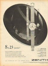 Publicité Advertising ...montres ZENITH