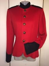 Classic! Ralph Lauren PURPLE LABEL Cashmere Blend Horse Riding Red Jacket Size 4