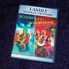 SCOOBY-DOO dvd + Scooby-Doo 2 Monsters Unleashed widescreen VG free ship
