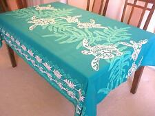 Lawai & Sea Turtle Hawaiian Quilt Print Water Resist Hawaii Tablecloth 60x60 TL