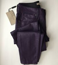 Burberry Brit Westbourne Skinny Ankle 26W  170/66A 36 Coated Jeans Bright Violet