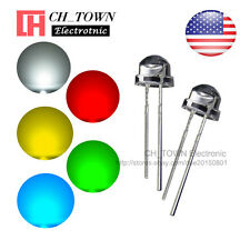5 Lights 500pcs 5mm LED Diodes Straw Hat White Red Green Blue Yellow Mix Kits