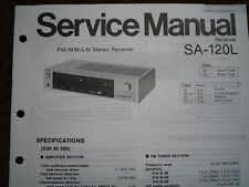 TECHNICS SA-120L Stereo amplifier receiver Service manual wiring parts diagram