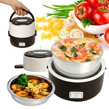1L Automatic Electric Rice Cooker Stainless Steel 2 Layers Lunch Box Steamer