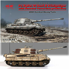 ICM 1/35 KING (ROYAL) TIGER II TANK WITH HENSCHEL TURRET (LATE VERSION)