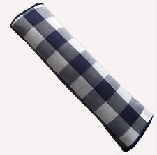 Blue Checked Gingham VW Campervan, Van, Truck or Car Seat Belt Cover Pad - x 2