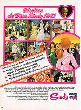 PUBLICITE ADVERTISING 044  1981  CLODRAY   poupées SINDY
