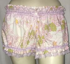 Mini Bloomers Cotton Floral Purple Lace Knickers Sissy Puffy Panties Men Women L