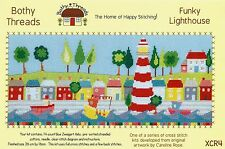Bothy threads Funky phare & bright mer maisons Compté Cross Stitch Kit