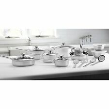 Mainstays Stainless Steel 18-Piece Cookware Set - Pots, Pans, Skillets and More