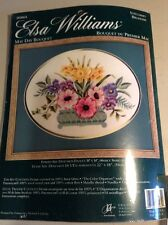 Rare 00464 Elsa Williams Crewel Stitchery Embroidery Kit May Day Bouquet Flowers