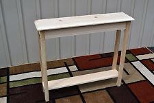 """Unfinished 36"""" Narrow Console Sofa Foyer, Beveled Edge Pine Table w/Shelf"""