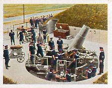German Coastal battery in Flanders Deutsches Heer WWI WELTKRIEG 14/18 CHROMO