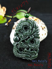 Natural Hetian Jade Dragon Pendant Chinese Hand-Carved Delicate Lucky Amulet