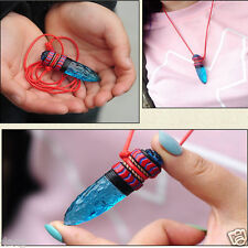 Anime Cosplay Princess Mononoke Hime Amulet Blue Wolf Fangs Necklace Pendant