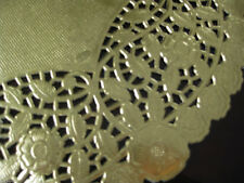 "12"" INCH ROUND GOLD FOIL PAPER LACE DOILY 100 PCS charger WEDDING PLACEMATS"