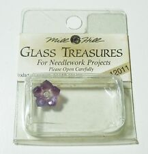 Mill Hill Glass Treasures #12011 5 Petal Dim Flower Amethyst Moonstone 10mm 1