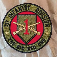 """1st Infantry Division """"The Big Red One"""" Military Patch"""