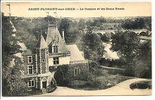 CP 18 CHER - Saint-Florent-sur-Cher - Le Donjon et les Deux Ponts