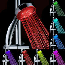 Handheld Romantic Automatic 7 Color LED Lights Handing Shower Head Bathroom HS