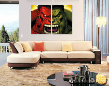 Home Decor Wall art,picture HD printed on canvas,The Hulk 2PC (No Stretch)