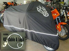 Motorcycle Cover Fit Harley Electra Glide w/Flame Logo.Storage Cover w/Lock.New