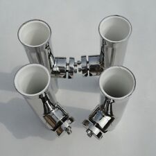 Hot Hot 4PCS Tournament Style Stainless Steel Clamp On Fish Rod Holder 7/8''-1''