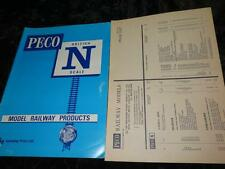 "PECO ""N"" GAUGE MODEL RAILWAY PRODUCTS CATALOGUE & PRICE LIST 1977"
