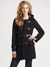 Burberry Brit Minstead Wool Toggle Black Coat Size US 2 $995+