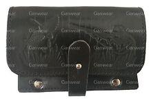 Black Leather Hunting Design Rifle 6 Bullets Holder Cartridge Box Gun Ammo Belt