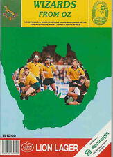AUSTRALIA TOUR OF SOUTH AFRICA 1992 A4 SIZE RUGBY BOOKLET WIZARDS FROM OZ