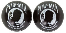 BLACK POW MIA VALVE CAPS LOW RIDER BIKE BEACH CRUISER