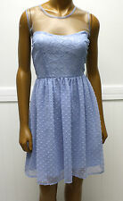 Rodarte Dress for Target Light Blue Swiss Dot Lace Net Dress Sz 9 NWTS