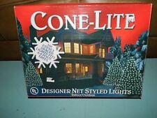 Cone-Lite Net 150 Light Christmas Lights Designer Net Styled Lights NEW!!