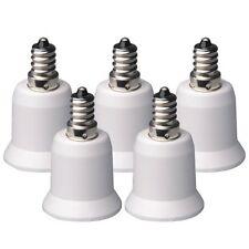 USA 5pcs E12 to E27 Candelabra Light Bulb Lamp Socket Enlarger Adapter--White