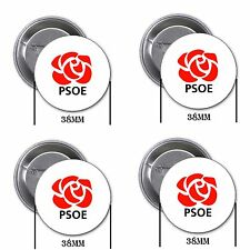 PSOE, Pedro Sánchez - 4 chapas, pin, badge, button, A