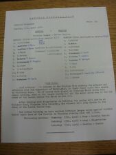 11/04/1972 Enfield v Barking  (Single Sheet, Neat Team Changes, Folded).  This i