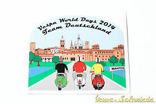 "Dekor Aufkleber ""Vespa World Days 2014"" - Team Deutschland Germany VCD Mantova"
