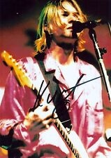 Kurt Cobain Nivana RARE EXTREMELY LIVE PHOTO (1994)  SIGNED RP 8X10 WOW!!!